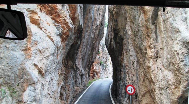 carretera a la calobra en mallorca